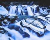 厳冬の江竜田の滝