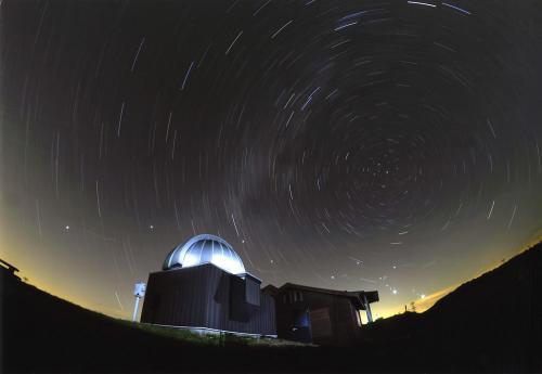 画像:鹿角平天文台 天体ショー