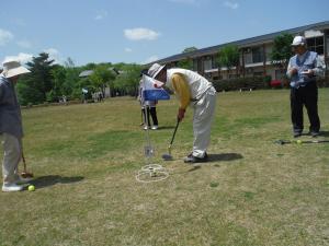 『グラウンドゴルフ教室』の画像