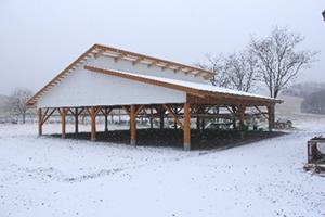 『鹿角平観光牧場内乾燥施設整備』の画像